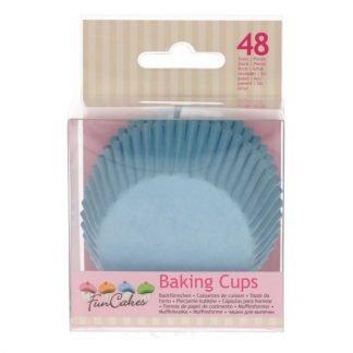Funcakes baking cups light blue