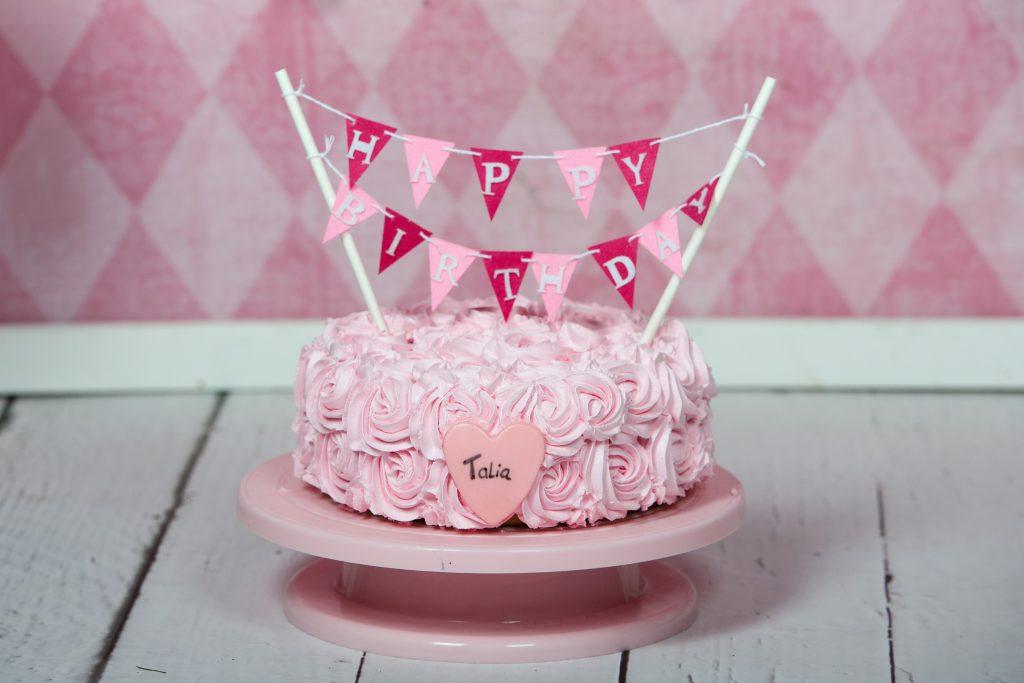 taart met rozen van creme