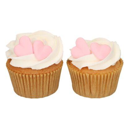Suikerdecoratie hart roze