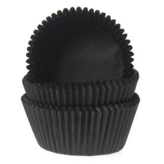 baking cups zwart
