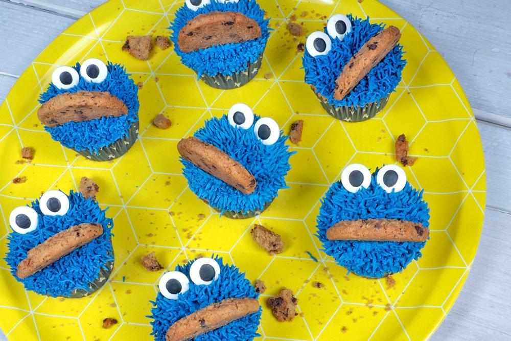 bakpakket koekiemonster cupcakes