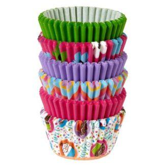 mini baking cups pinks multi