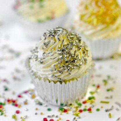 Sugar strands - metallic zilver