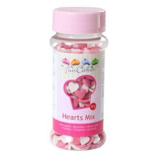 FunCakes Hartjes Roze Wit