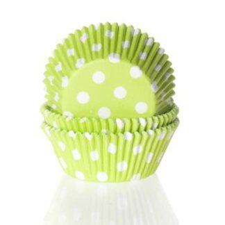 Baking cups Stip Lime Groen