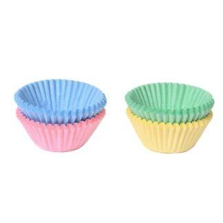Chocolade Baking Cups Pastel Assorti Set/100