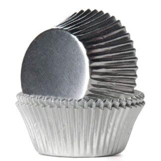 Baking cups zilver